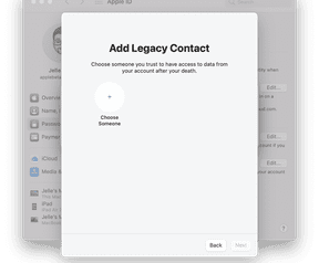 Apple legacy contacts