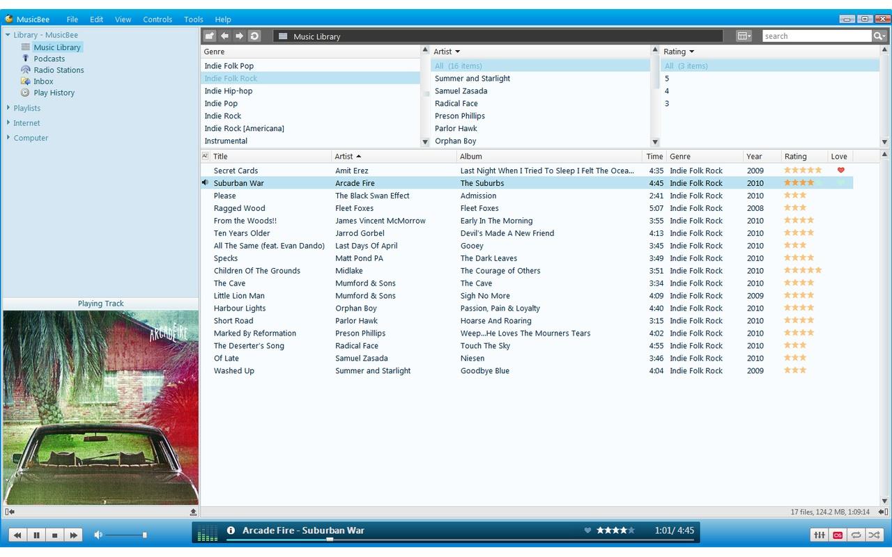 MusicBee screenshot