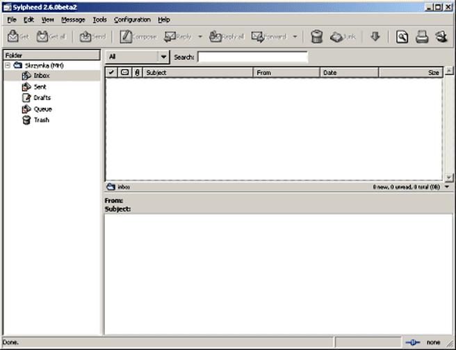 Sylpheed 2.6.0 bèta 2