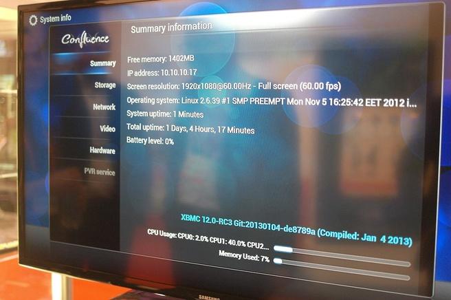 XBMC op Dune HD-mediaspeler op basis van Intel-soc