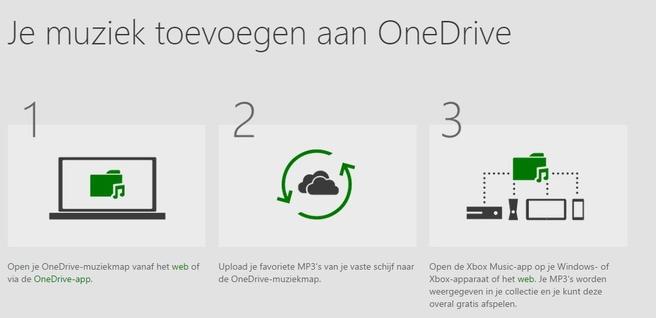 Eigen muziek op OneDrive