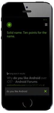 Mockup: iPhone 5s met Cortana