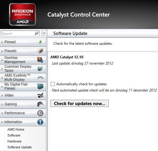 Catalyst auto-update