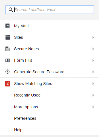 lastpass interface 2