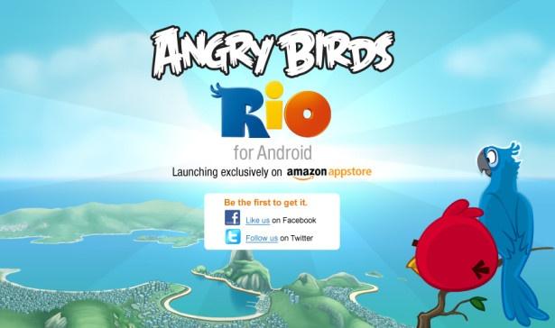 Angry Birds Rio voor Amazon