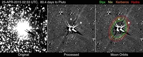 Foto van Pluto door New Horizons