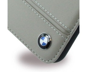 "BMW Imprint Real Leather BookCase - Apple iPhone 7 (4,7"") - Taupe Bruin"