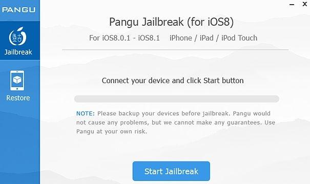 PanGu voor iOS 8.1