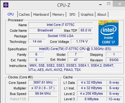 Core i7-5775C cpuz