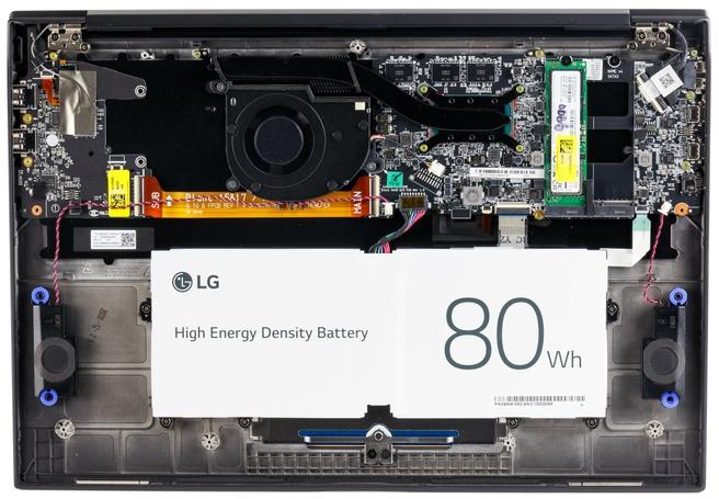 LG Gram 17 (17Z90P) - Binnenkant