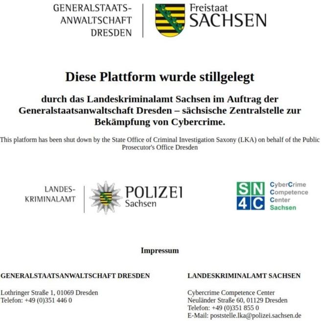 Usenet actie politie Sachsen