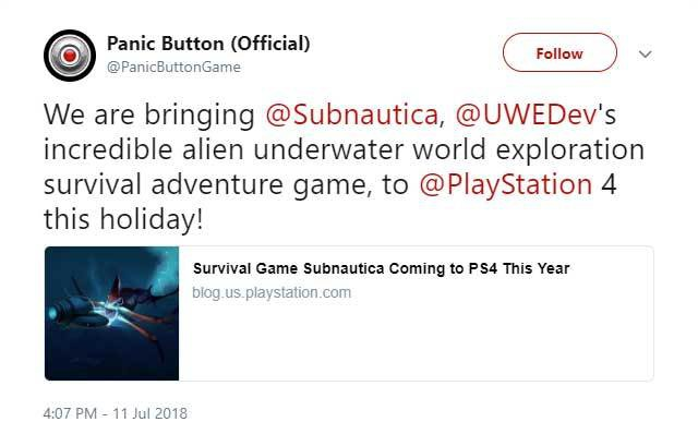 Subnautica komt naar PlayStation 4