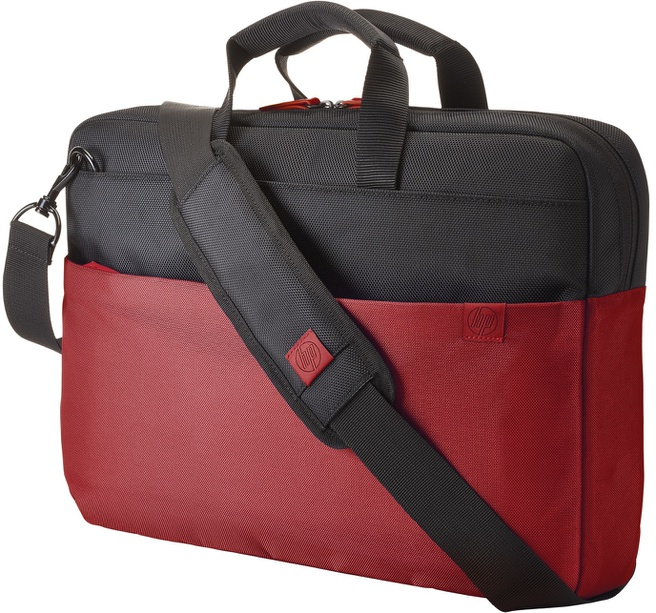 HP 15.6 Duotone Red BriefCase