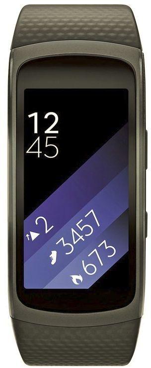 Samsung Galaxy Gear Fit 2 Zwart Bandje Zwart (Zwart)