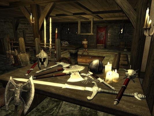 Oblivion weapon room