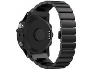 Goedkoopste qMust Metalen armband Chain Garmin Fenix 3 / Fenix 3 HR - Zwart