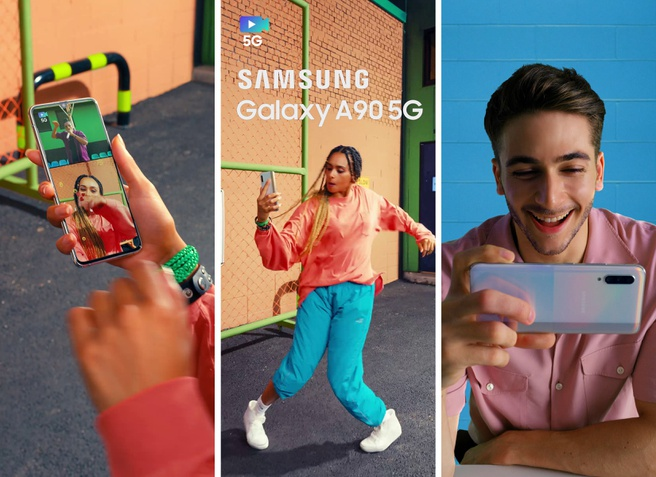 Marketingmateriaal Galaxy A90 5G