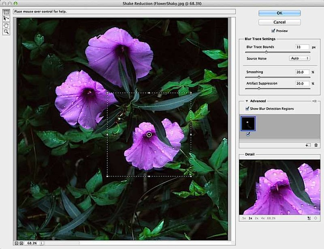 Photoshop CC: Shake reduction