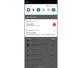 Google Play Store update notificatie