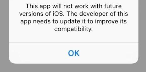 Apple 32bits waarschuwing