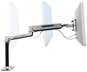 Ergotron LX HD Sit-Stand Desk Mount LCD Arm Polished Aluminum