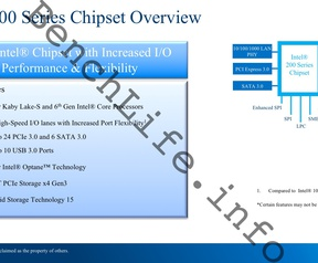 Intel Kaby Lake Series 200 geruchten