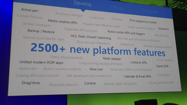 Build 2015 api's Windows 10