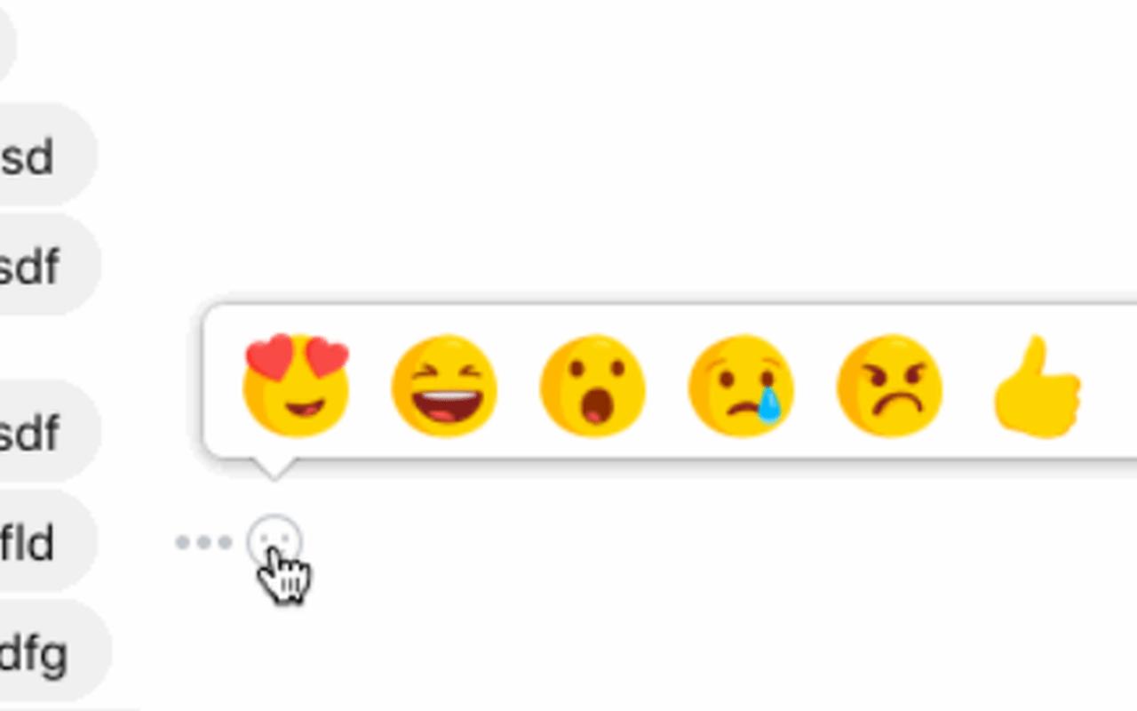 Reactie-emoji's in Facebook Messenger