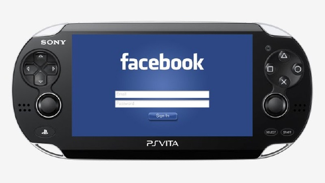 Facebook op PS Vita