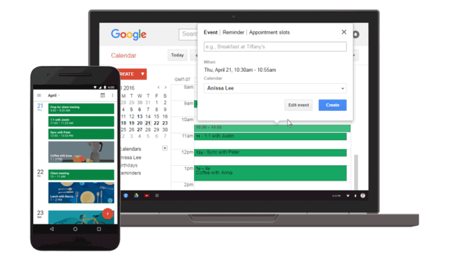 herinnering functie google agenda calendar