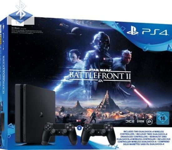 Sony PlayStation 4 Slim 1 TB + Star Wars: Battlefront 2 Zwart
