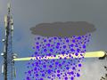 Regenval verstoort signaal van mast naar mast (bron: KNMI)