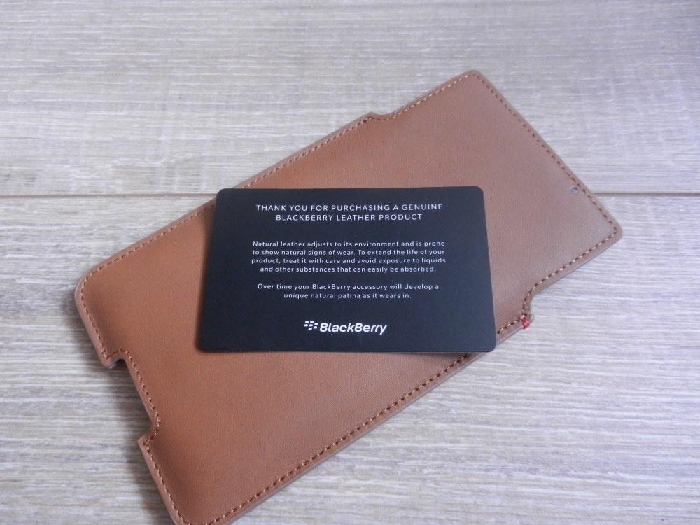 BlackBerry Priv, Leather Pocket, Tan