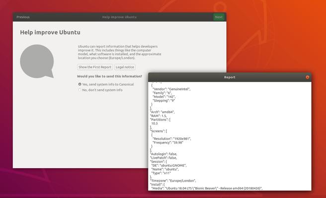 Ubuntu diagnostische gegevens