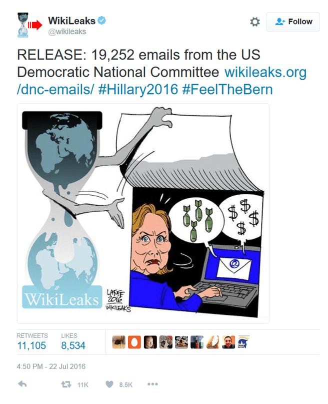 Wikileaks dnc tweet