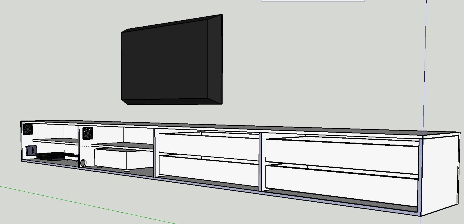 Pc kast meubel fabulous dressoir brooklyn with pc kast for Meubels tekenen op computer