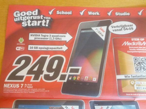 Google Nexus 7 in folder van Media Markt (bron: Twitter/@marc1510)