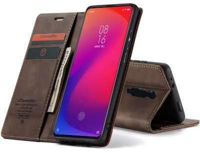 Caseme Xiaomi Mi 9T Retro Wallet Case - Coffee