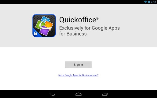 Quickoffice met Google Apps