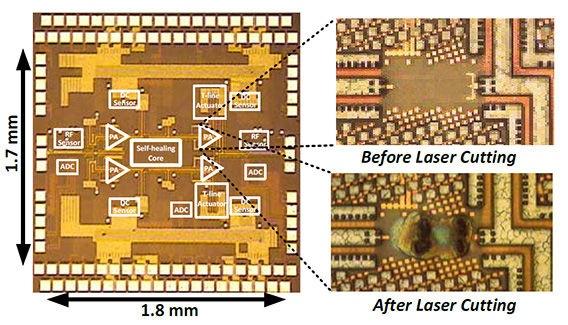 Caltech signaalversterker met zichzelf herstellende circuits