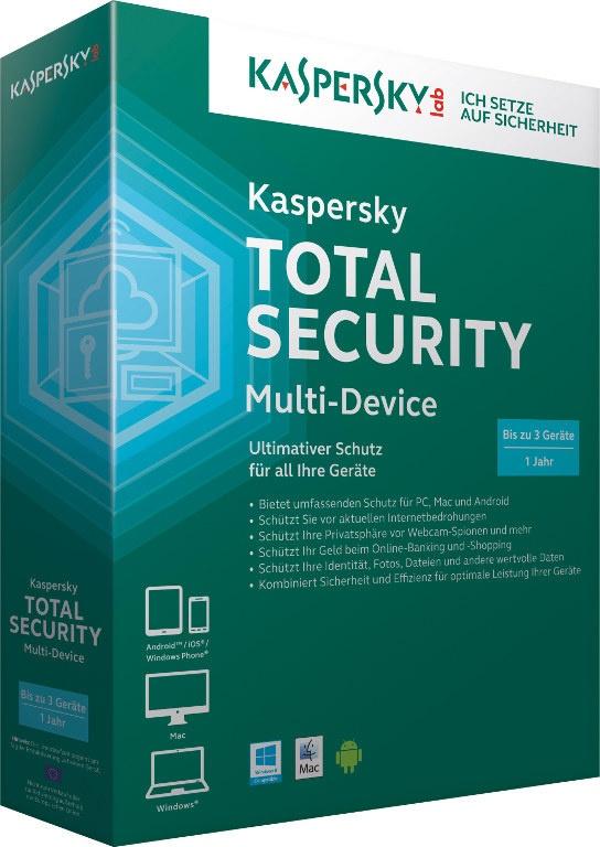 Kaspersky Total Security - Multi-device 3 apparaten, 1 jaar