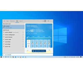Windows 10 May 2020 Update Zoeken