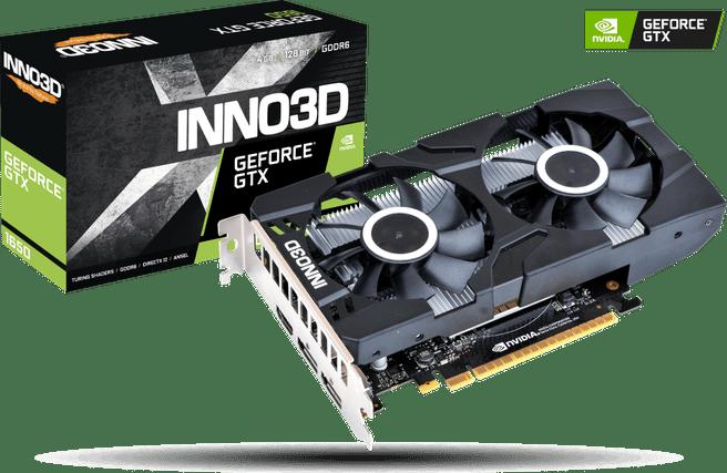 Inno3D GeForce GTX 1650 Twin X2 OC 4GB GDDR6 grafische kaart