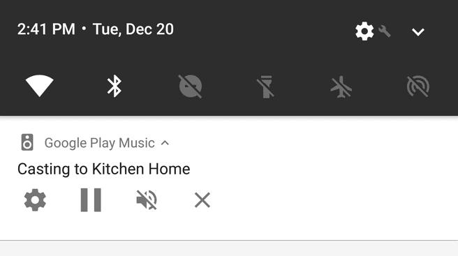 Google Cast-notificatie