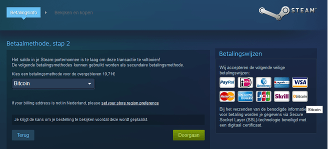Bitcoin op steam