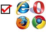 Microsoft browserkeuzescherm