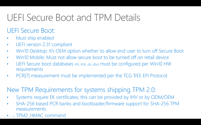 Windows 10 secure boot