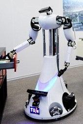 Deelnemer aan de humanoid league van de RoboCup