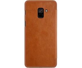 Nillkin Qin PU Leren Case - Samsung Galaxy A8 Plus (2018) - Bruin  Bruin