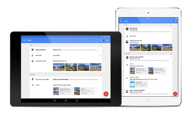 Inbox op iPad en Android-tablet